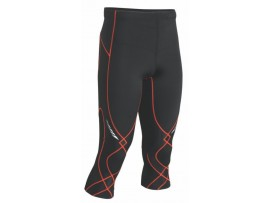 CW-X Kompresijske hlače StabilyX - 3/4 - MOŠKE črne - oranžni šivi