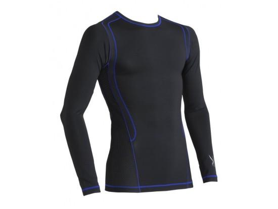 CW-X Kompresijska majica Ventilator Web - črno modra dolga - MOŠKA