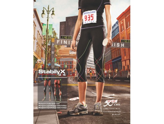 CW-X Kompresijske hlače StabilyX - 3/4 - ŽENSKE mavrična