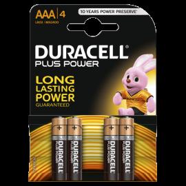 DURACELL PLUS POWER ALKALINE AAA BATTERIES 4 kosi