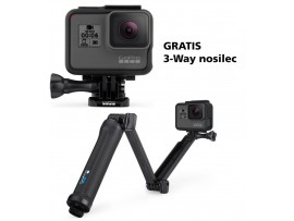 GoPro HERO6 Black gratis 3-Way nosilec
