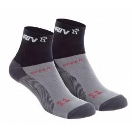 INOV-8 - tekaške nogavice SPEED SOCK MID DVOJNO PAKIRANJE temne