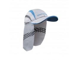 Raidlight EVO  tekaška kapa z zaščito pred soncem RA054U bela