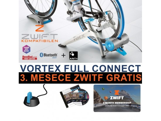 Tacx Vortex FULL CONNECT Smart T2180.FC Trenažer 3 mesece ZWIFT, ANT, TTS4 software