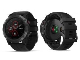 GARMIN fenix® 5X Plus Sapphire, črn model s črnim paščkom 010-01989-01 (HR srčni utrip meri na zapestju) odprodaja -26%