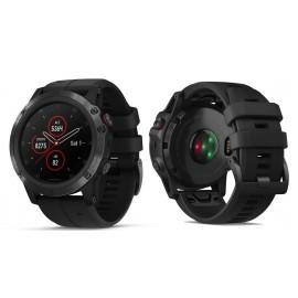 GARMIN fenix® 5X Plus Sapphire, črn model s črnim paščkom 010-01989-01 (HR srčni utrip meri na zapestju)