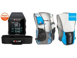 Polar V800 GPS HR H10 črna  + ULTIMATE DIRECTION - TO RACE VEST 3.0 BY TIMOTHY OLSON