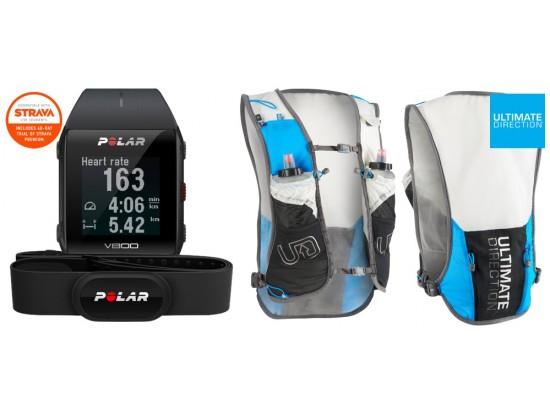 Polar V800 GPS HR H10 črna  + ULTIMATE DIRECTION - TO RACE VEST 3.0 BY TIMOTHY OLSON