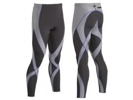CW-X Kompresijske hlače Endurance Pro - dolge - MOŠKE Grey/Light Grey/Blue Odprodaja -40%