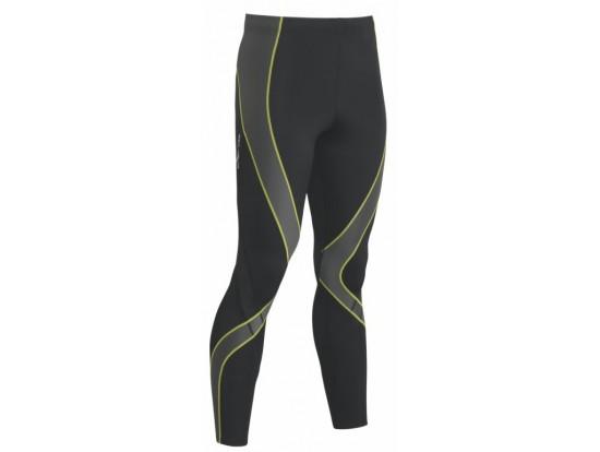 CW-X Kompresijske hlače Pro - dolge - MOŠKE Crne-Sive-rumene