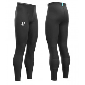 Compressport tekaške hlače RUNNING UNDER CONTROL FULL TIGHTS BLACK