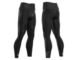 Compressport tekaške hlače TRAIL RUNNING UNDER CONTROL FULL TIGHTS BLACK ODPRODAJA -30%