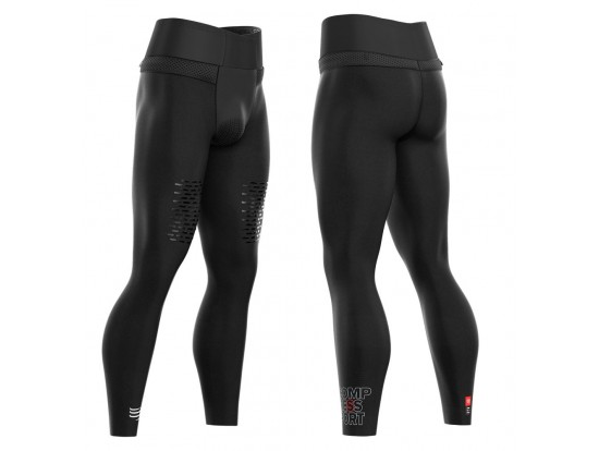 Compressport tekaške hlače TRAIL RUNNING UNDER CONTROL FULL TIGHTS BLACK
