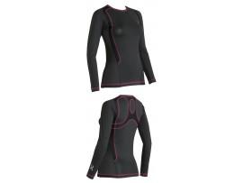 CW-X Kompresijska majica Ventilator Web - dolga črna rdeča- ŽENSKA