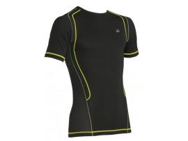 CW-X Kompresijska majica Ventilator Web - moška kratka črna zeleno rumena