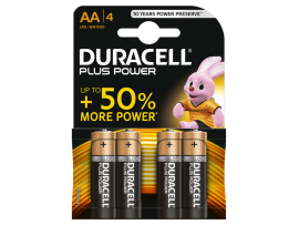DURACELL PLUS POWER ALKALINE AA LR6 MN1500 4 kosi
