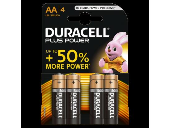 DURACELL PLUS POWER ALKALINE AA LR6 MN1500 4 kosi