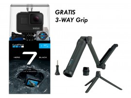GoPro HERO7 Black Gratis 32GB + 3-way grip