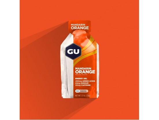 GU energijski gel MANDARIN ORANGE kofein 20mg, Na 55mg, aminokisline 450mg 5 kosov