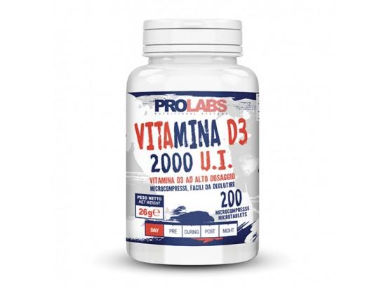PROLABS VITAMIN D3 2000 UI - 200 microtab, Prehransko dopolnilo