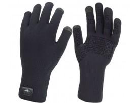 Sealskinz Vodoodporne tekaške rokavice Ultra Grip črne